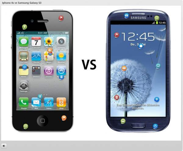 Iphone 4s vs Samsung Galaxy S3 | E-learning Examples | E learning demos