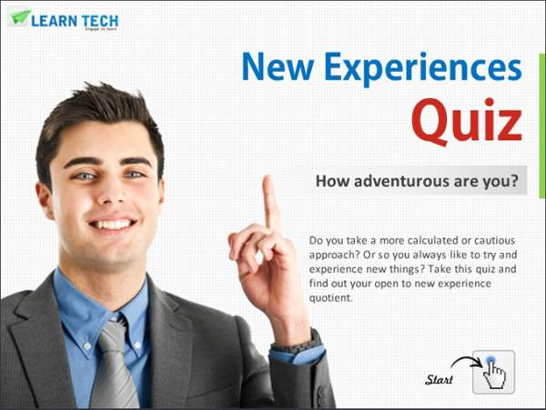New Experiences Quiz - self discovery inventory - Personality Tests