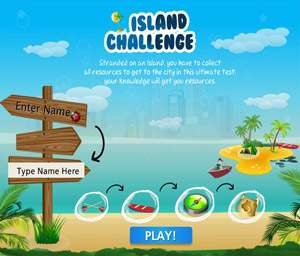 Island Challenge Game   E-learning Examples   E learning demos
