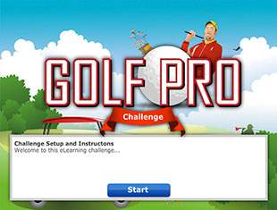 Golf Game - online E learning Games - learning game