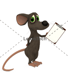 Character Poses – Mouse_Holding Board | Online Store | LearnTech