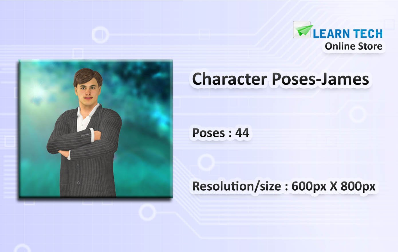 Character Poses James - Character Poses for Training decks