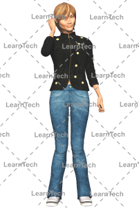 LearnTech - Character Poses – Sydney_On_Phone