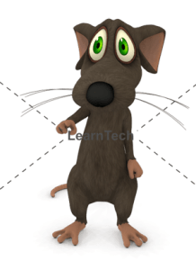 Character Poses – Mouse_Pointing Front | Online Store | LearnTech