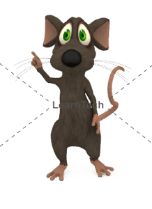 Character Poses – Mouse_Pointing Right | Online Store | LearnTech