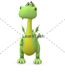Character Poses – Dragon_Pointing left top | Online Store | LearnTech
