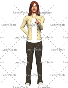 LearnTech - Character Poses – Alyson_Pointing_Front
