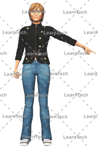 LearnTech - Character Poses – Sydney_Pointing_left_bottom