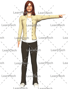 LearnTech - Character Poses – Alyson_Pointing_left_side