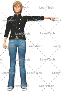 LearnTech - Character Poses – Sydney_Pointing_left_side