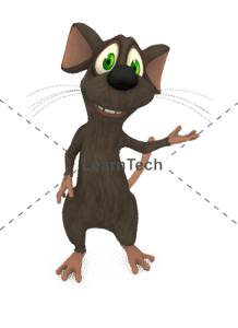 Character Poses – Mouse_Showing left | Online Store | LearnTech