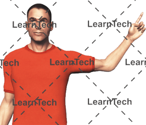 Character Poses –Simon_Pointing_Left_Top | Online Store | LearnTech | Online Store | LearnTech