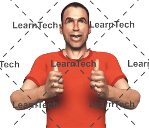 Character Poses –Simon_Thumbs up both hands | Online Store | LearnTech