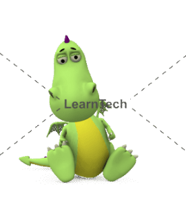 Character Poses – Dragon_Sitting Sad | Online Store | LearnTech
