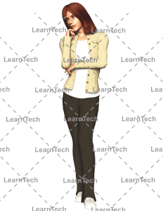 LearnTech - Character Poses – Alyson - Thinking