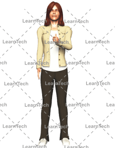 LearnTech - Character Poses – Alyson_Thumbs up