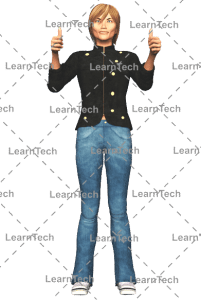 LearnTech - Character Poses – Sydney_Tumbsup_both hands