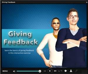 E-learning Examples   E learning demos   Basics of Giving Feedback