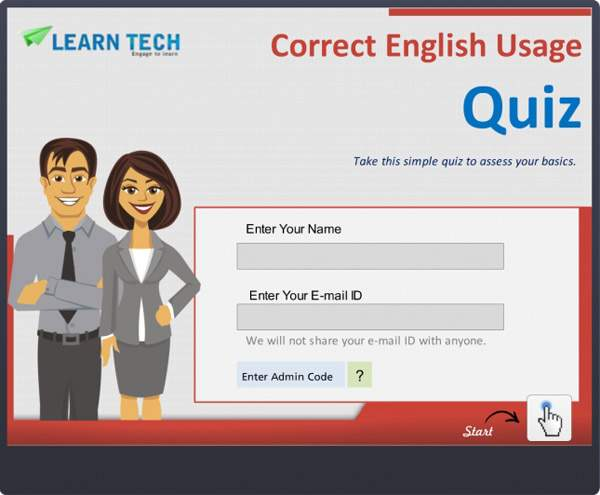 LearnTech – Digital Assessments - Correct English Usage Quiz