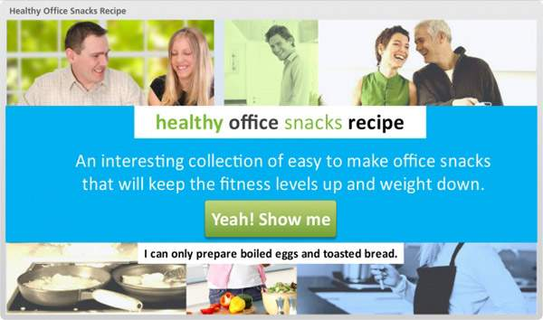 Healthy Office Snacks Recipe | E-learning Examples | E learning demos