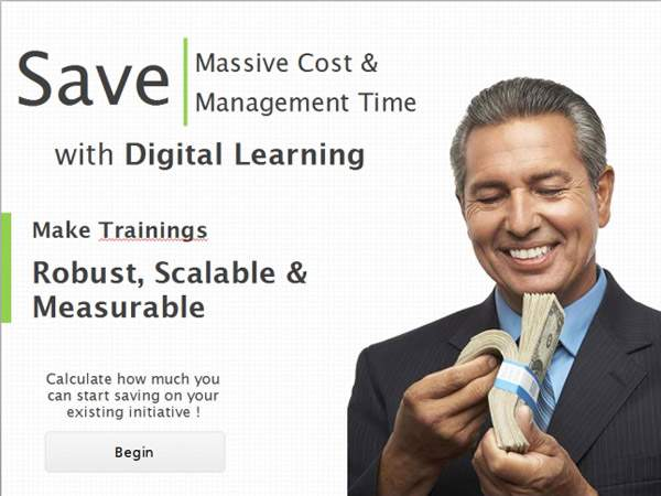 Learntech - Demo - Cost and Time Advantage Calculations with Digital Learning