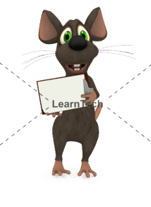 Character Poses – Mouse_holding board 1 | Online Store | LearnTech