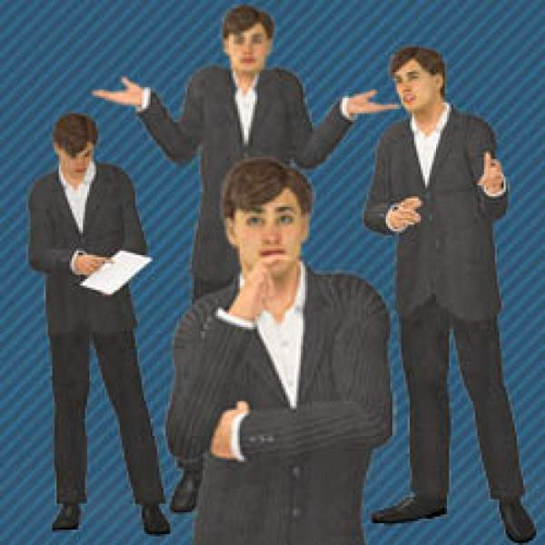 Character Poses - Character Poses for E learning - E learning Development