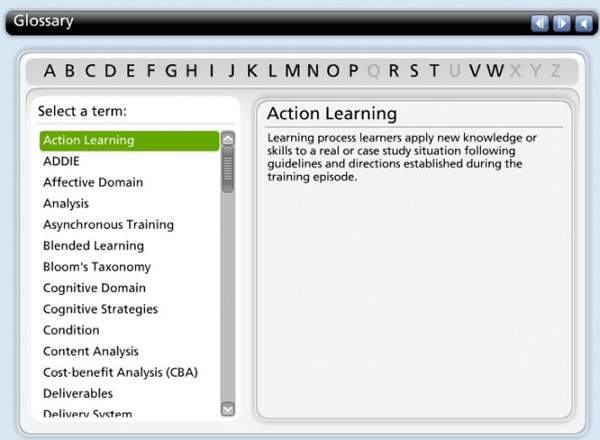 LearnTech – Engaging Interactions - Interactive Learning - Glossary