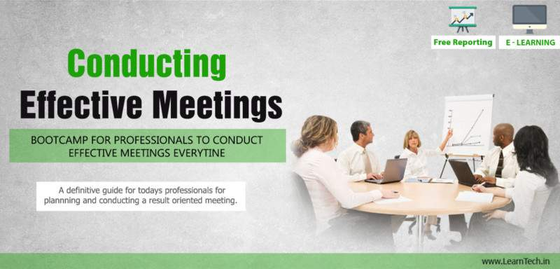 Conducting Effective Meetings - E learning | training - off the shelf E learning