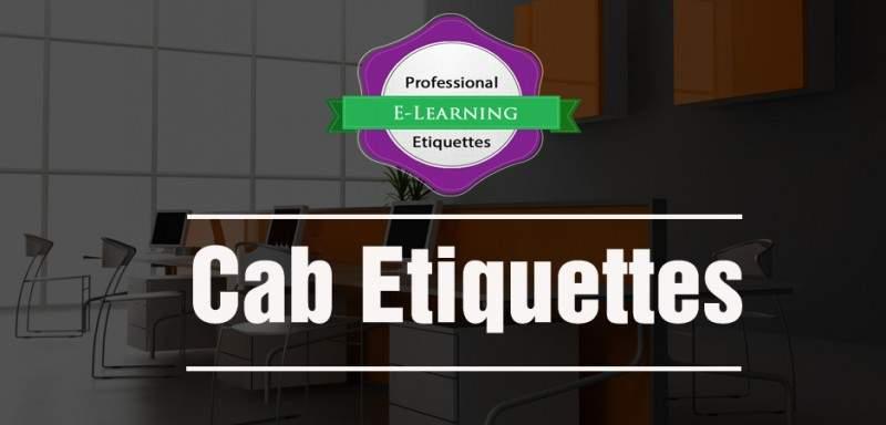 Cab Etiquettes - Business Etiquette Training - Ready to go Online Courses